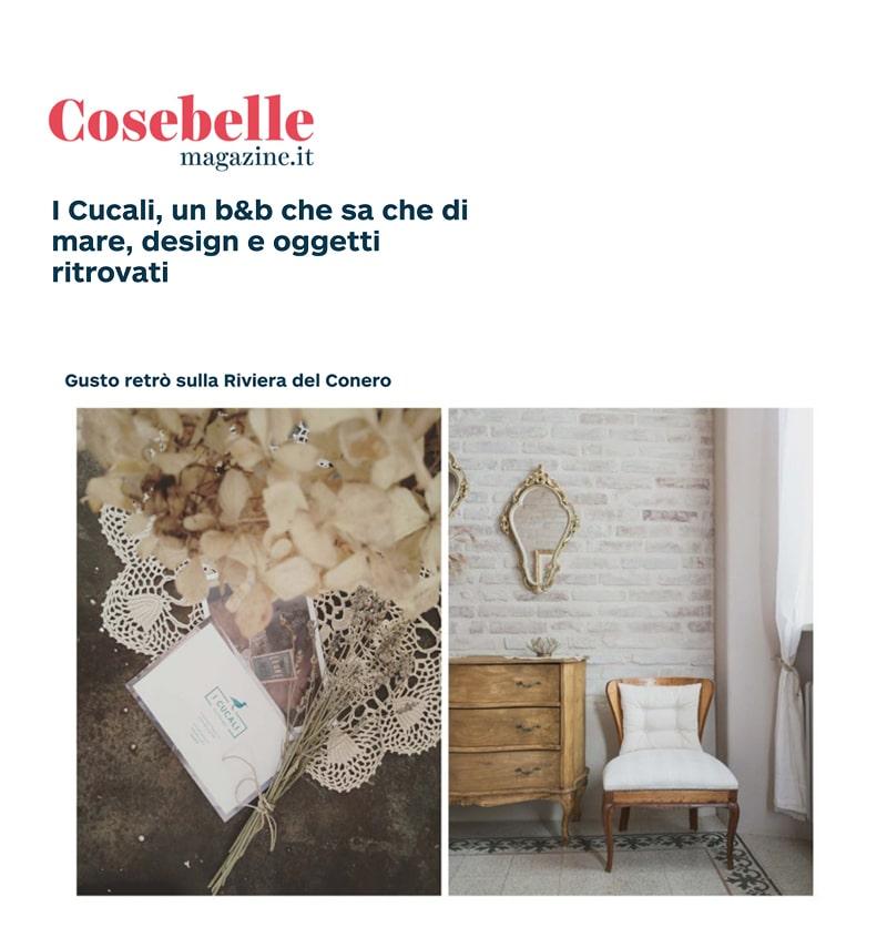i Cucali Bed and Breakfast fronte mare / Porto Recanati / storie / Cosebelle