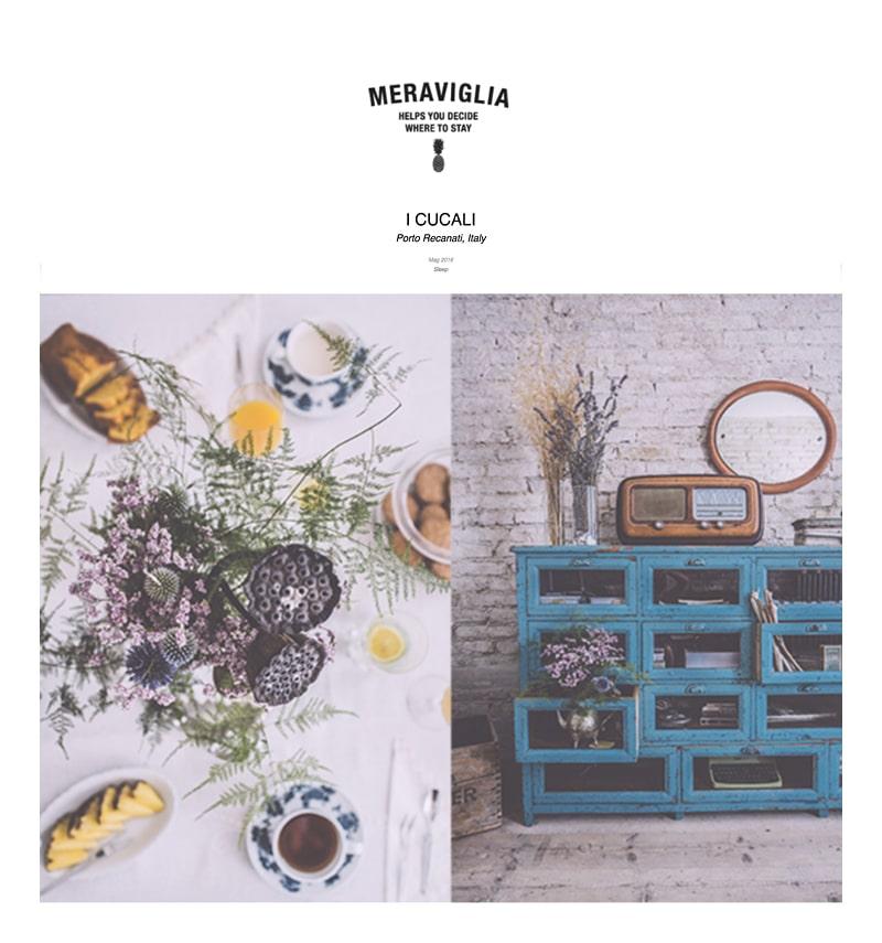 i Cucali Bed and Breakfast fronte mare / Porto Recanati / storie / Meraviglia
